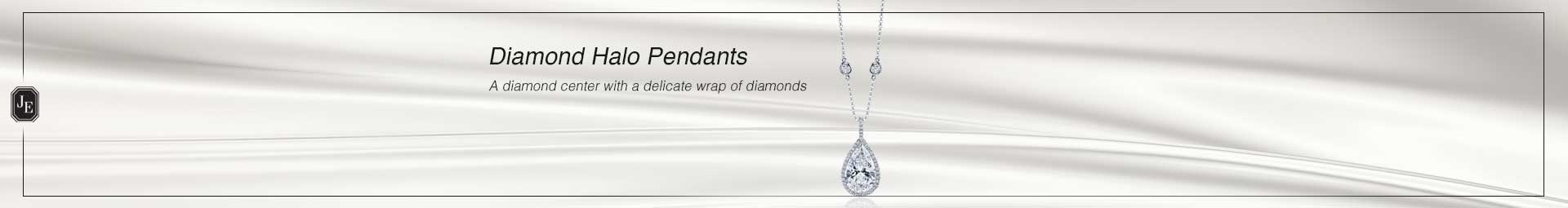 Diamond Halo Pendants