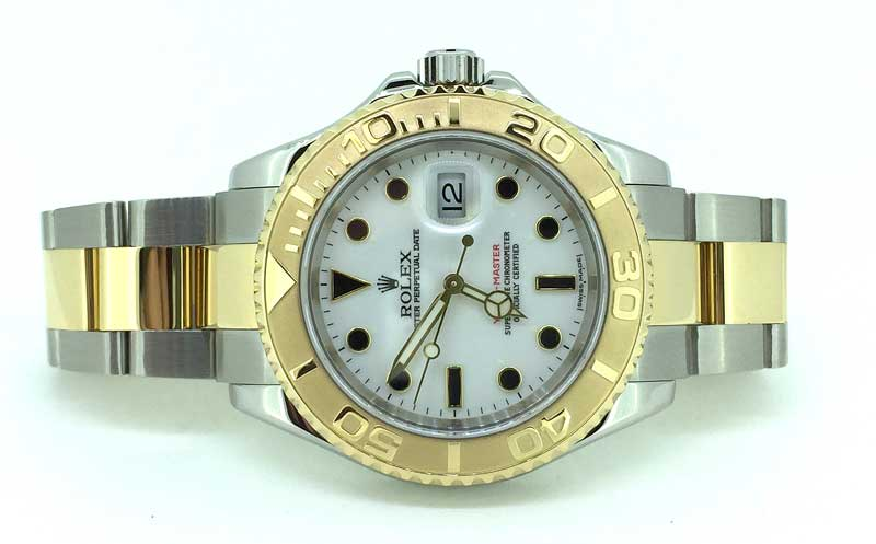 Steel and Gold Rolex Yachtmaster with white dial