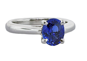 Clean and classic sapphire solitaire engagement ring