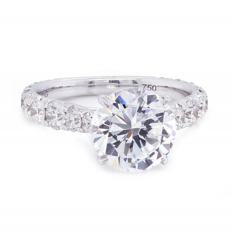 Reverse Taper Diamond Engagement Ring