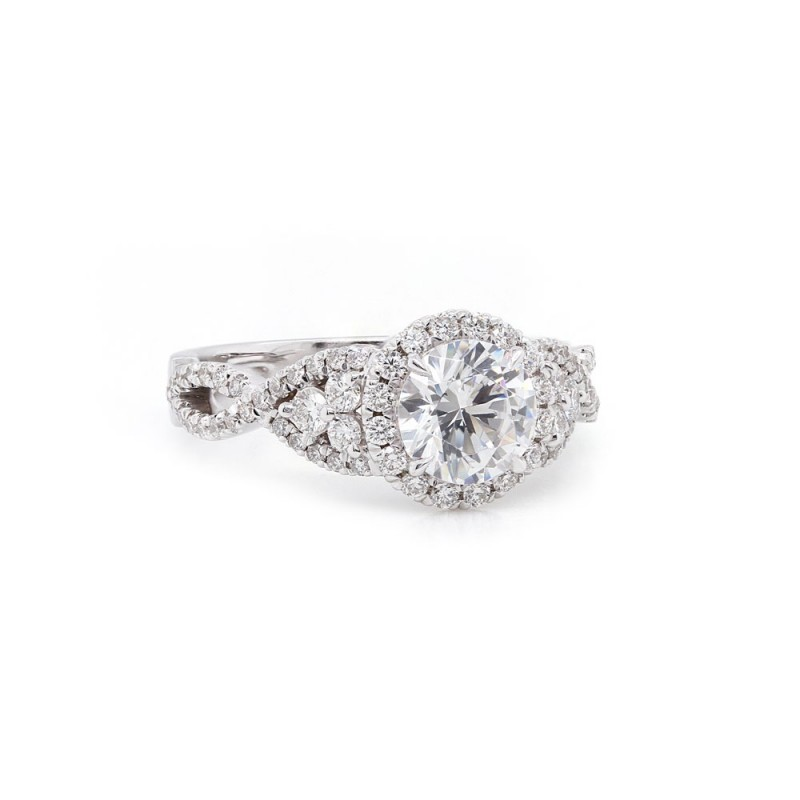 Halo Twist Engagement Ring