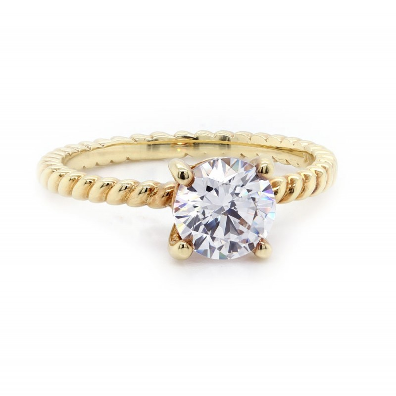 Sholdt Rope Design Diamond Solitaire Ring