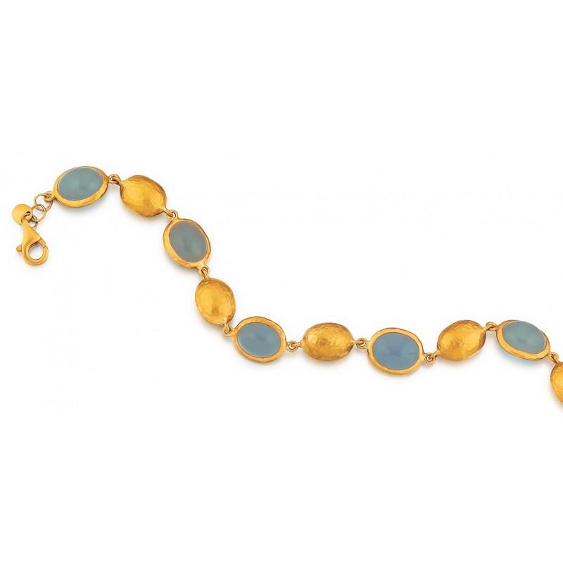 Marika yellow gold Aquamarine bracelet