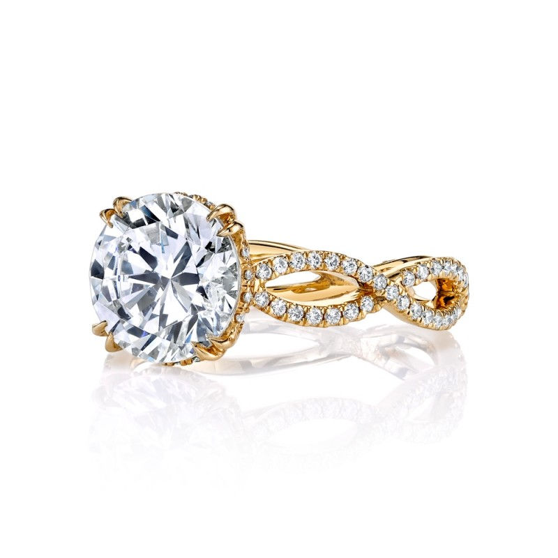 Twisted Pave Engagement Ring