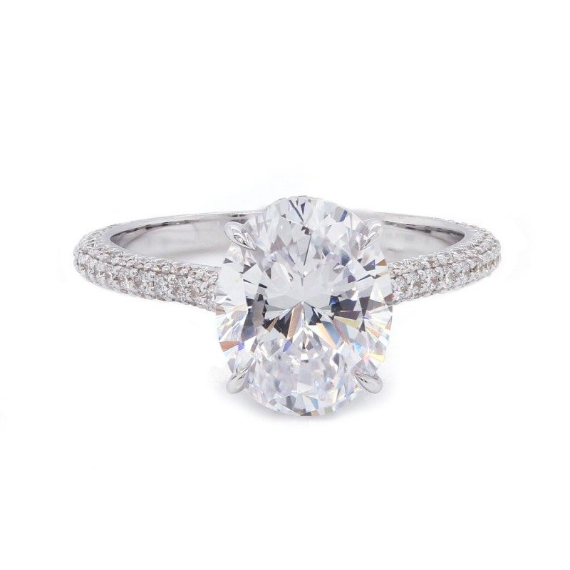 Oval Engagement Ring Three Sided