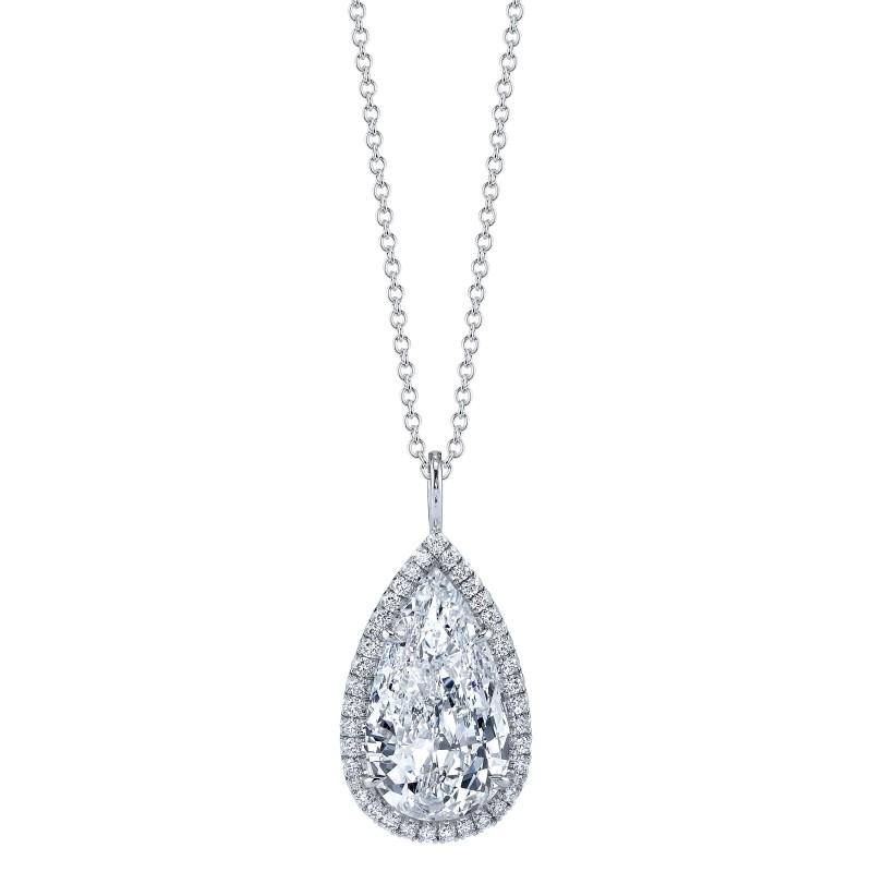 Pear Shaped Diamond Halo Pendant