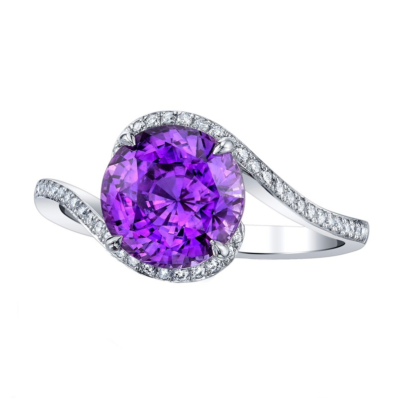 Violet Sapphire Engagement Ring