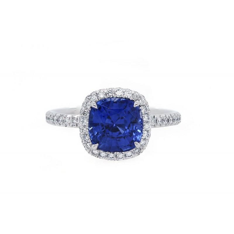 Royal Blue Sapphire Engagement Ring