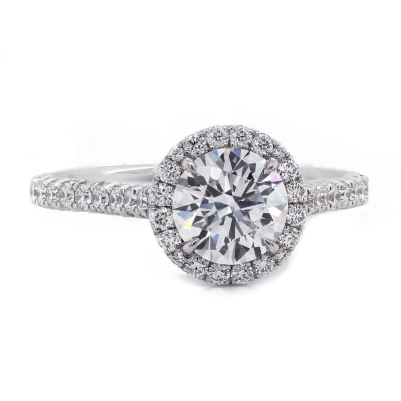 Round Diamond Round Halo Engagement Ring
