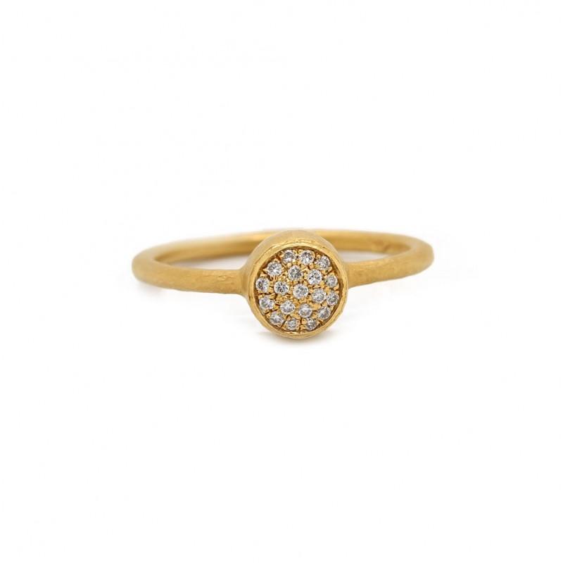 Pave Bezel Diamond Ring