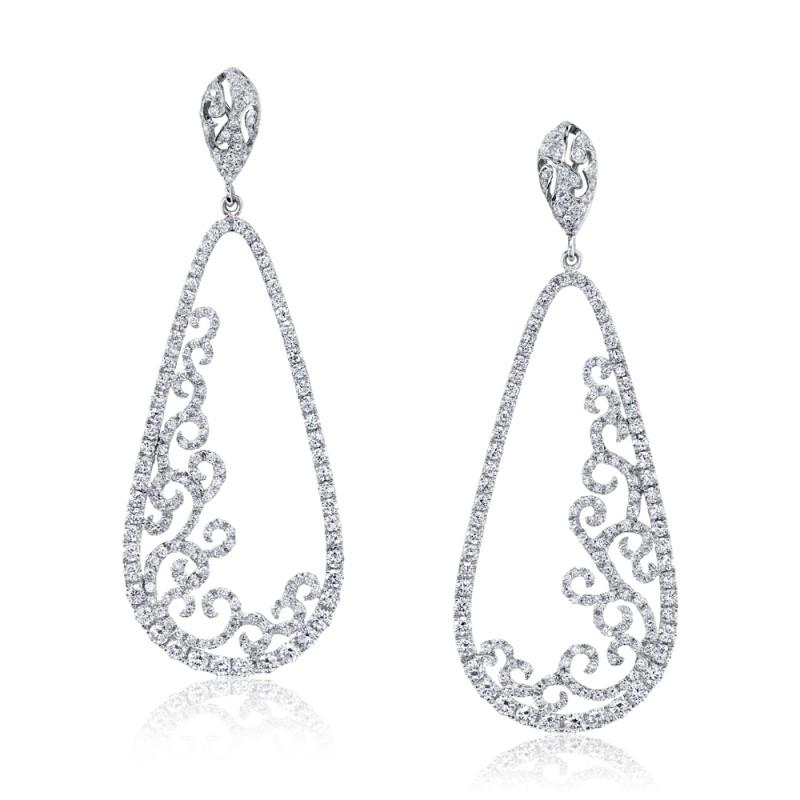 Open Filigree Diamond Earrings