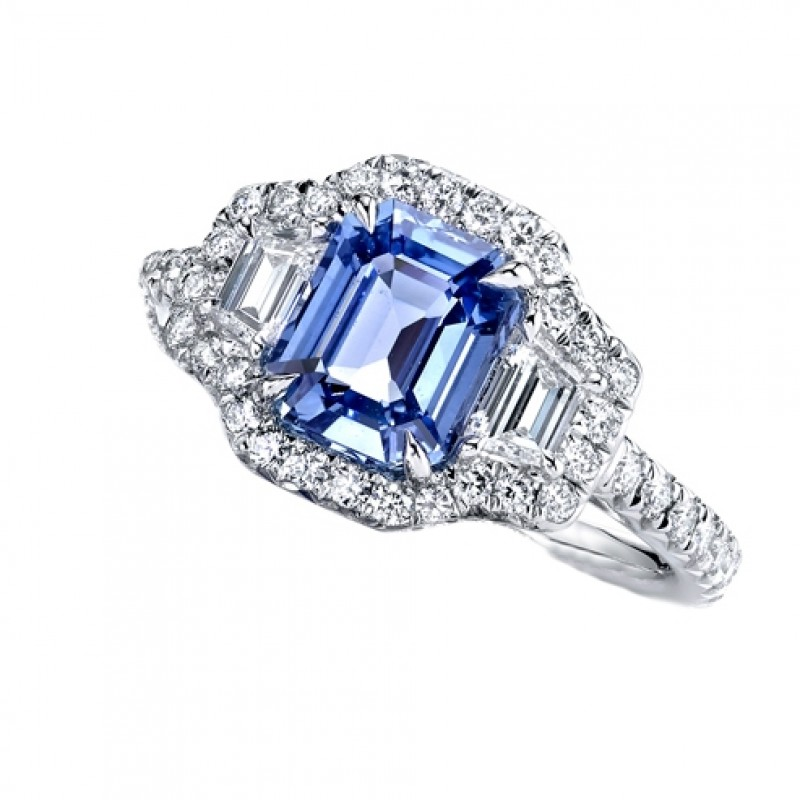 Sky Blue Sapphire Engagement Ring