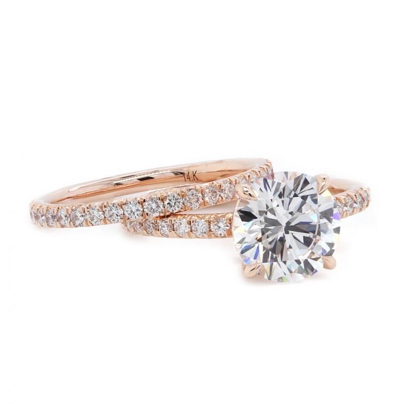 Delicate Rose Gold Wedding Set