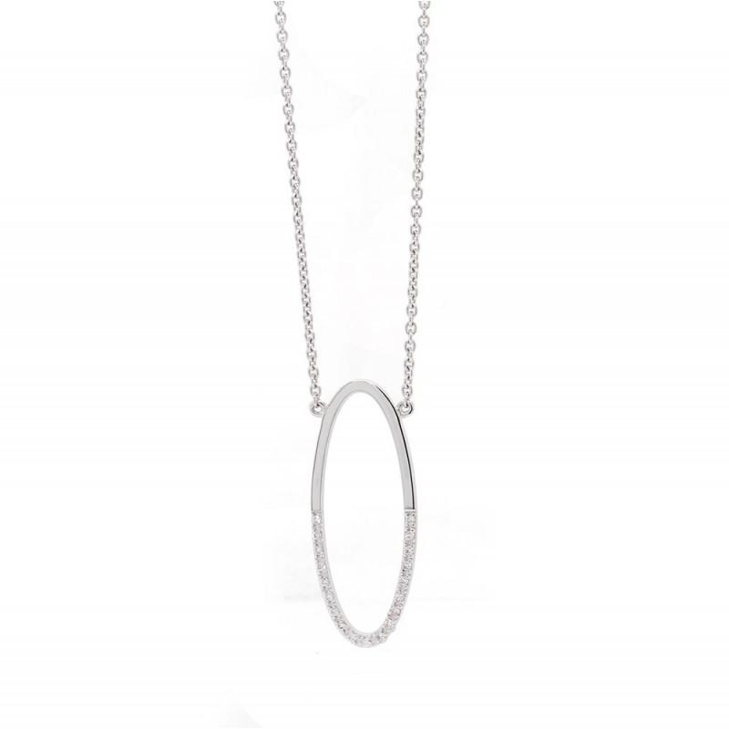 Open Oval Diamond Pendant