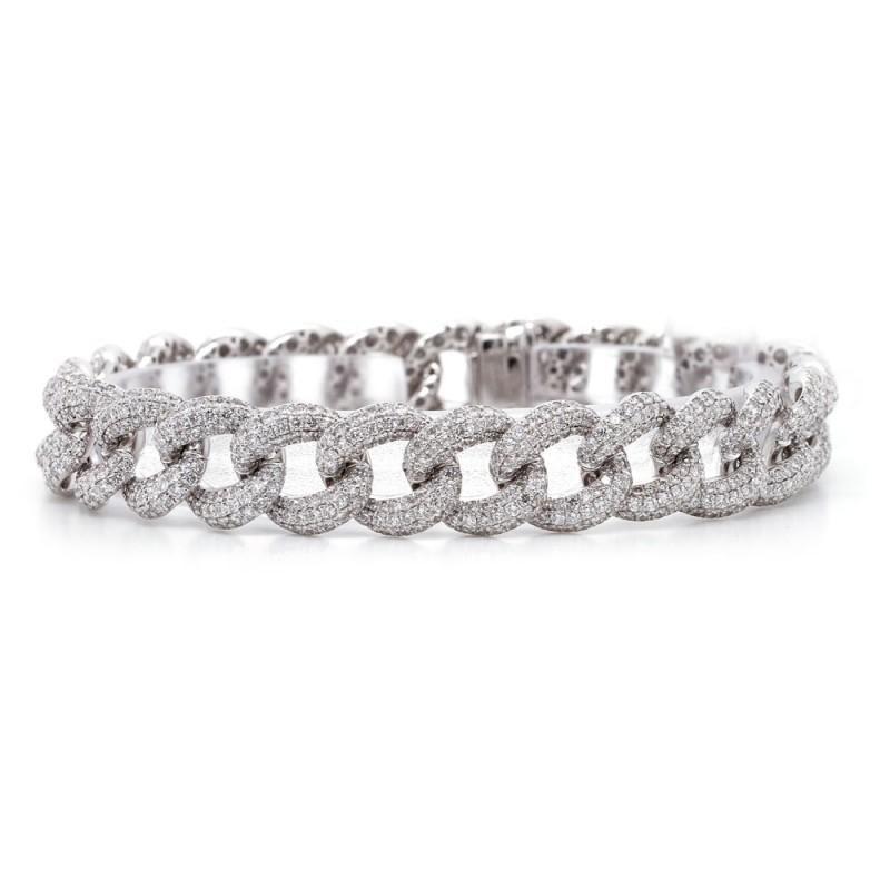 Diamond Pave Link Bracelet