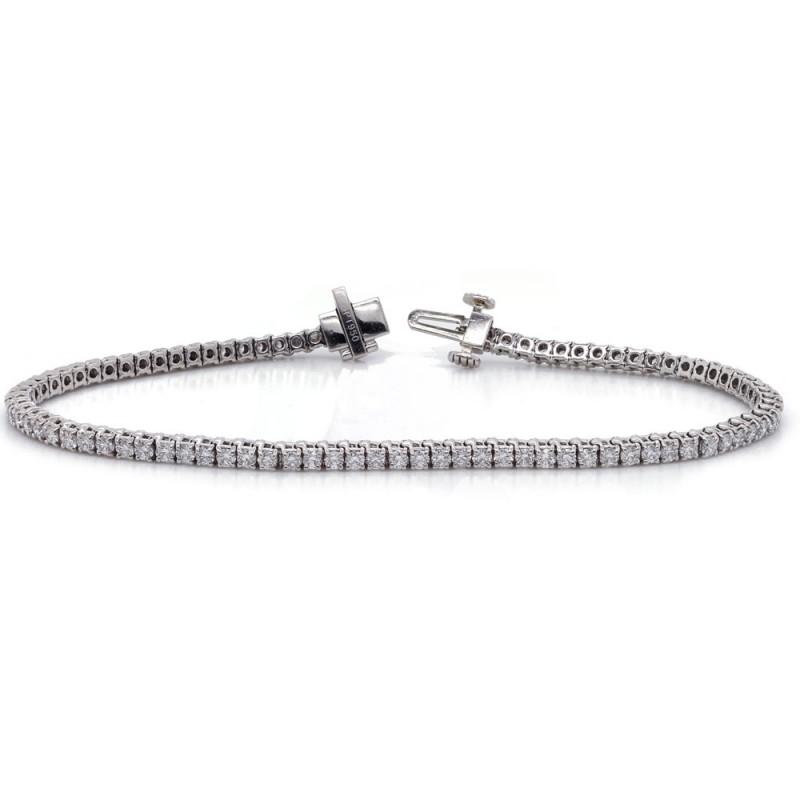 Platinum Diamond Tennis Bracelet 2.48 cttw