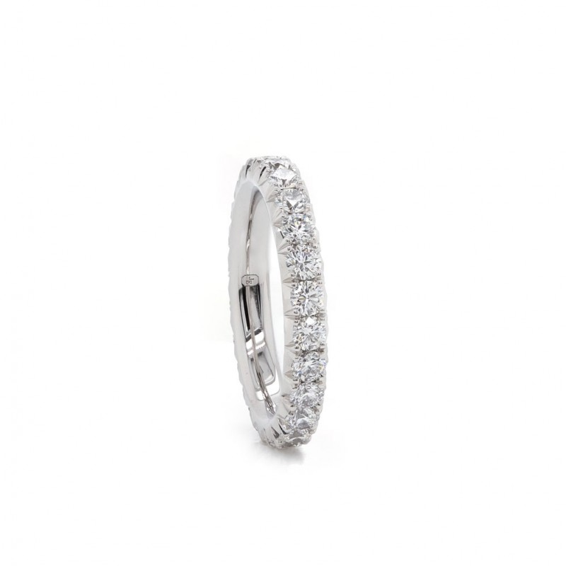 Handmade Diamond Eternity Band 1.72ct twt