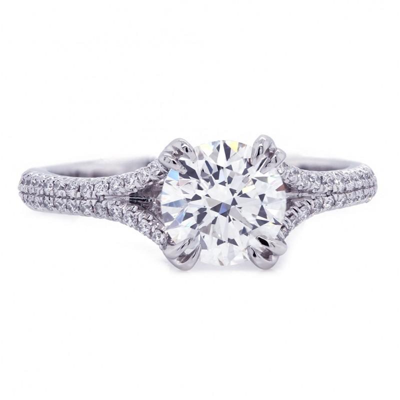 Delicate Split Shank Diamond Engagement Ring