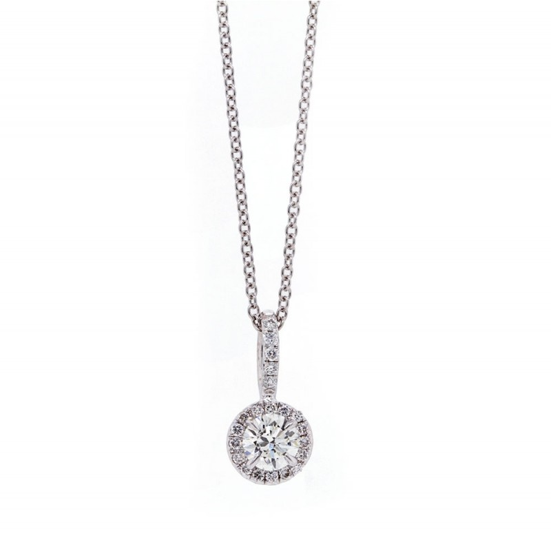 Diamond Halo Pendant 0.31ct
