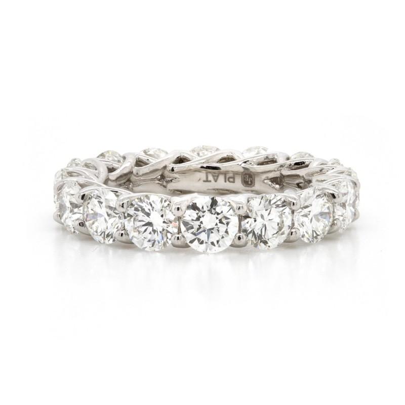 Platinum Ideal-Cut Diamond Eternity