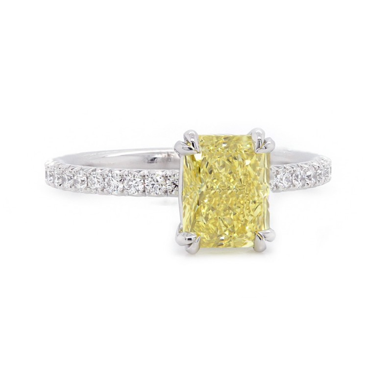 Fancy Intense Yellow Diamond Engagement Ring