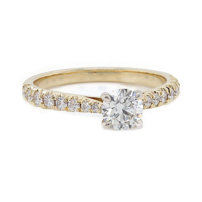 Yellow Gold Delicate Diamond Engagement Ring