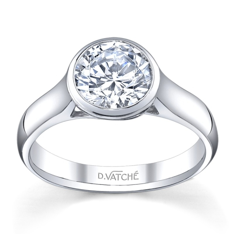 Vatche design bezel set diamond solitaire engagement ring
