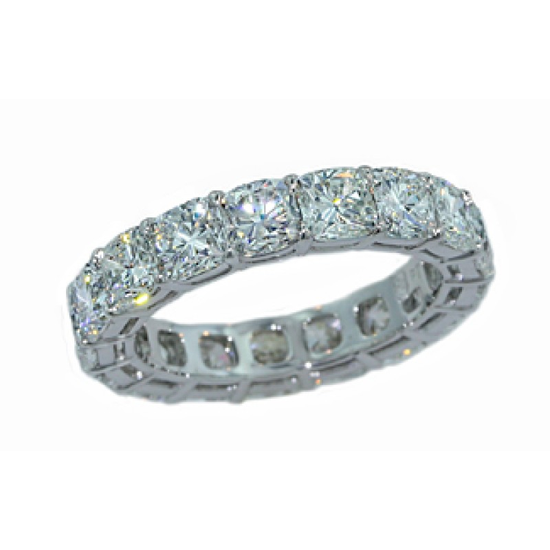 6.21ctw cushion brilliant diamond eternity band
