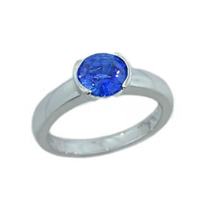 Sapphire Solitaire Engagement Ring