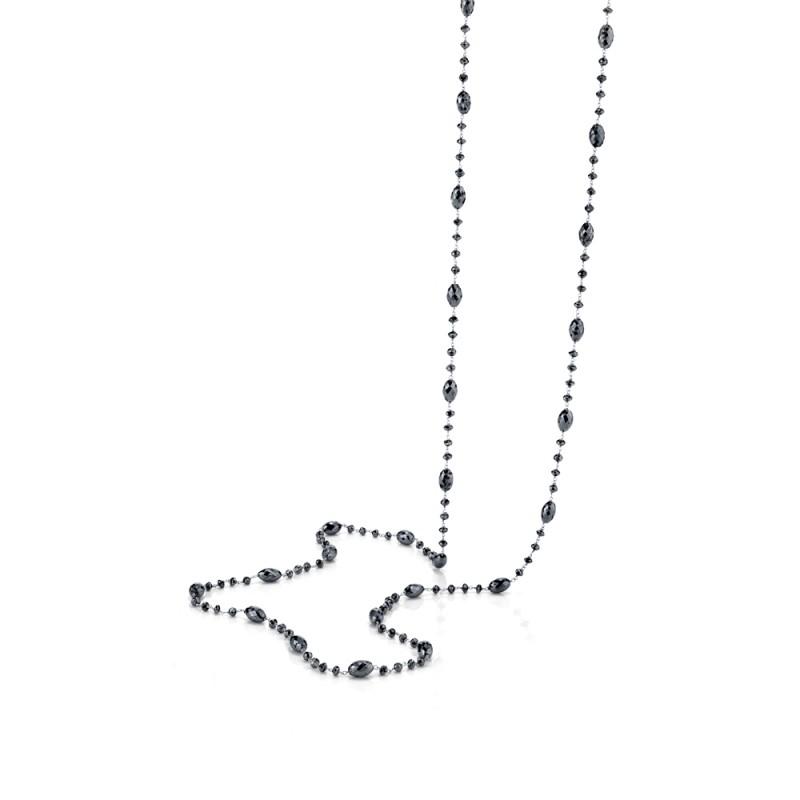 Black Diamond Long Necklace