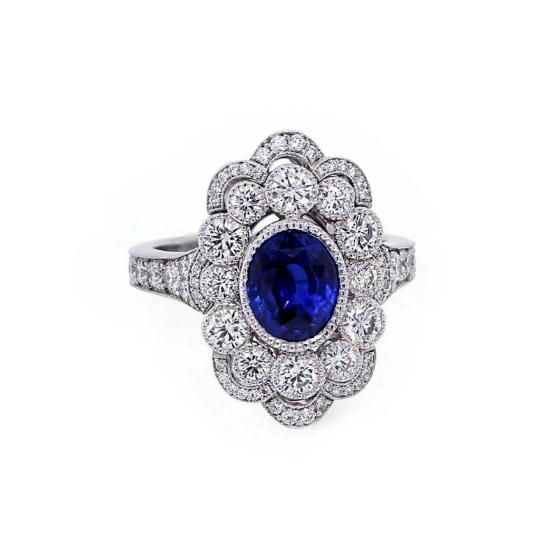 Royal Blue Sapphire Heirloom Collection Ring