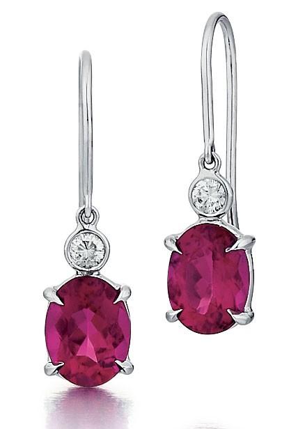 Pink Tourmaline Drop Earrings