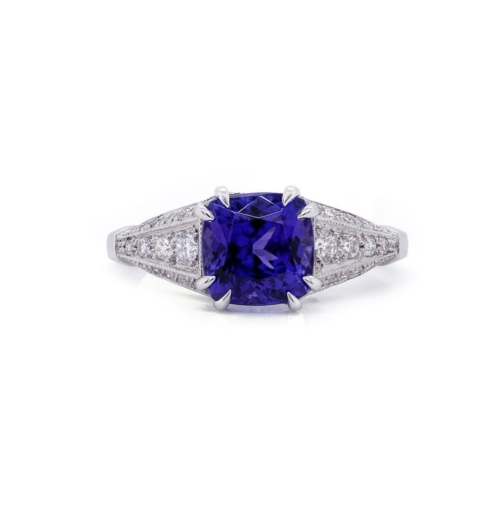 Tanzanite Vintage Style Ring