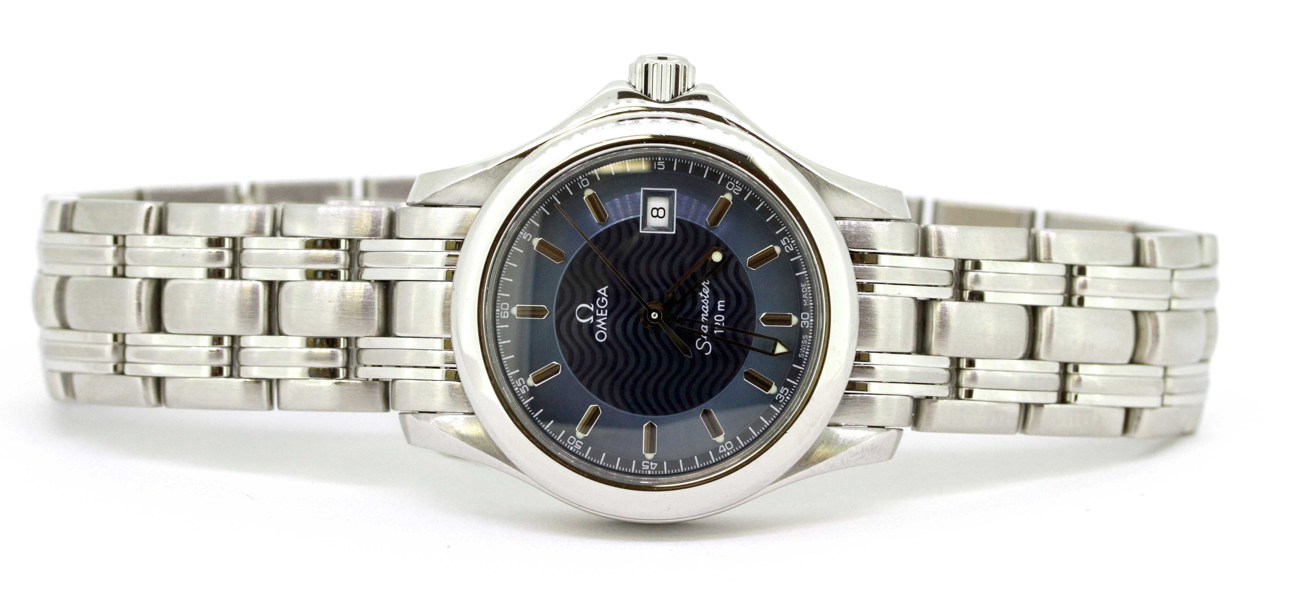 Ladies Omega Sea Master with Blue Dial