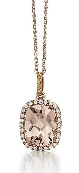Rose gold morganite halo pendant fashion pendants pendants jewelry rose gold morganite halo pendant aloadofball Image collections