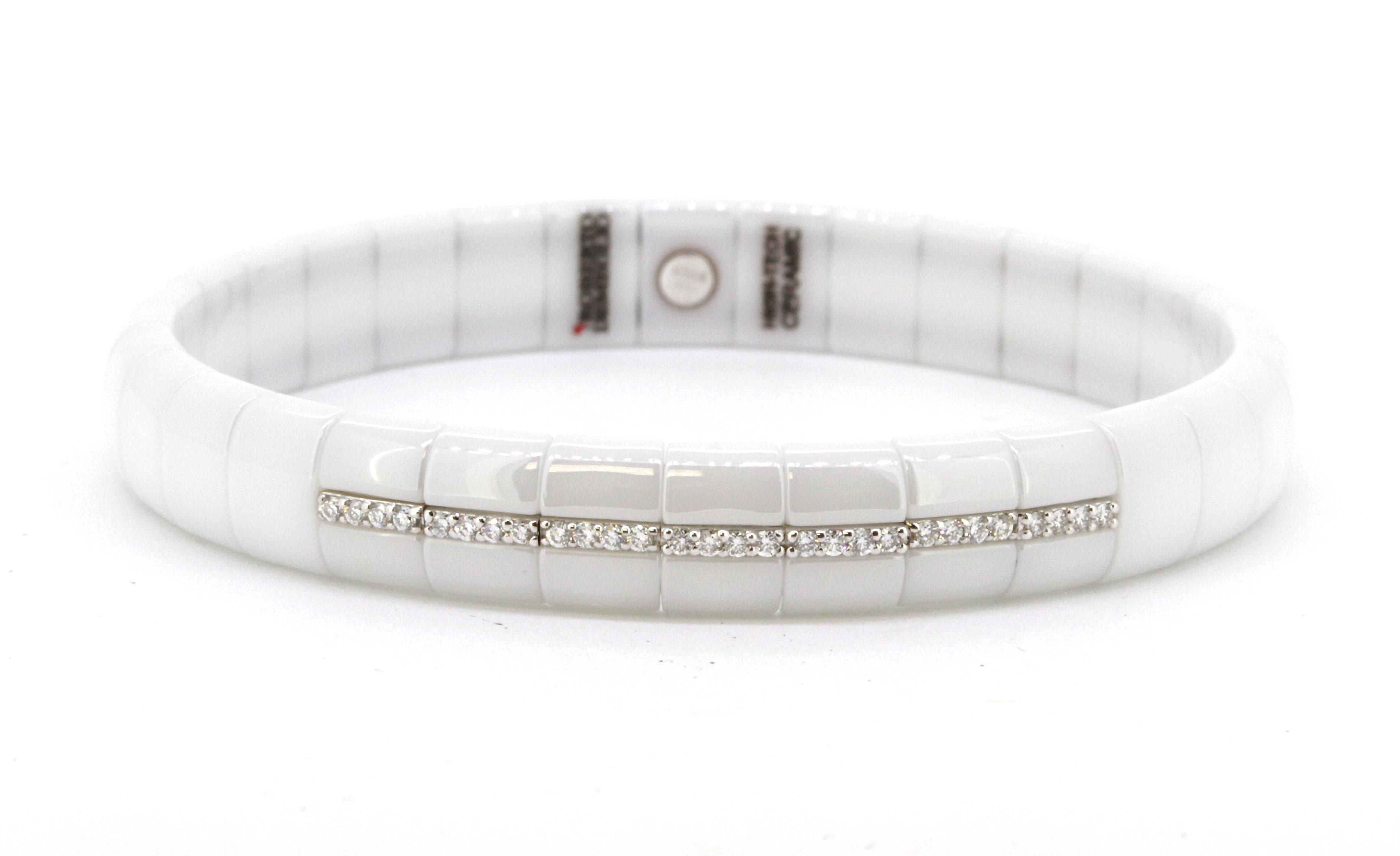 Roberto Demeglio Pura White Ceramic Bracelet