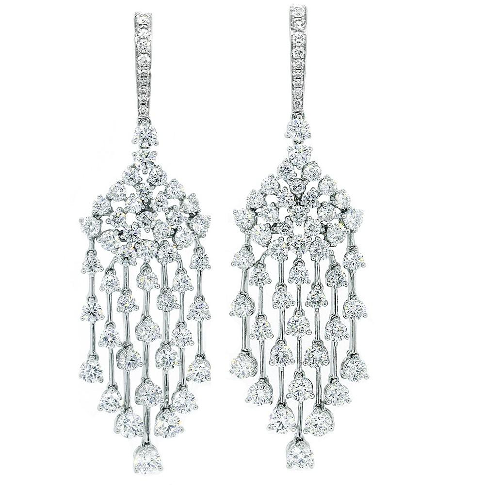 Chandelier Diamond Drop Earrings