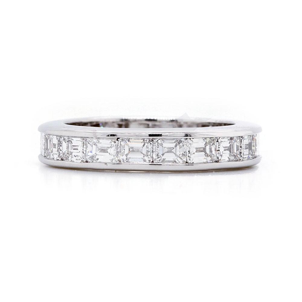 Channel Emerald Diamond Ring