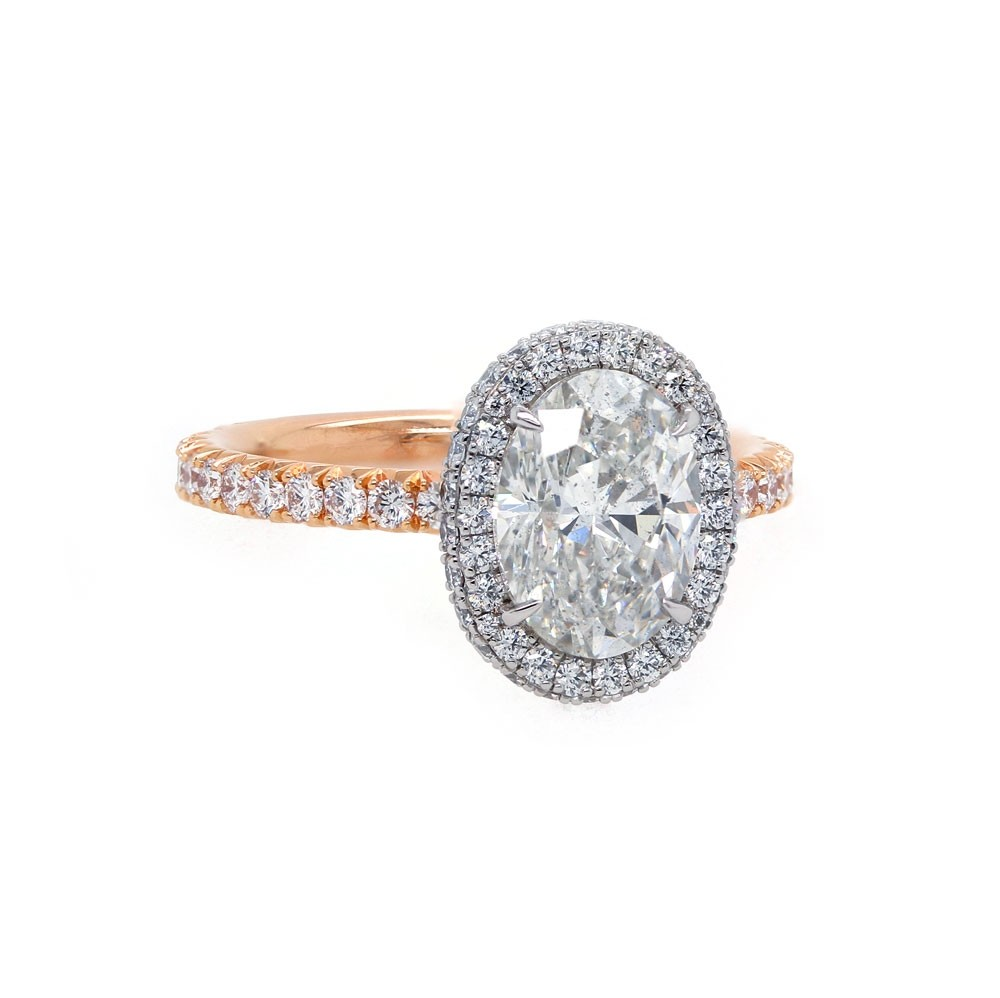 Rose Gold Oval Diamond Engagement Ring Engagement Rings