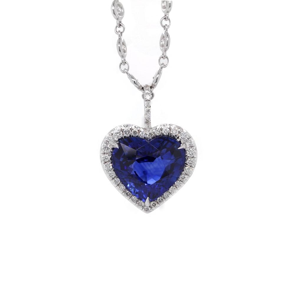 Heart Shaped Royal Blue Sapphire