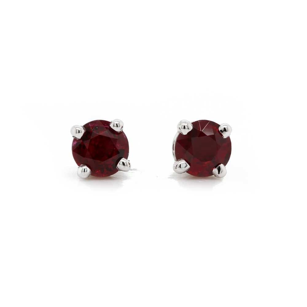 Ruby Stud Earrings 0.93 t.c.w