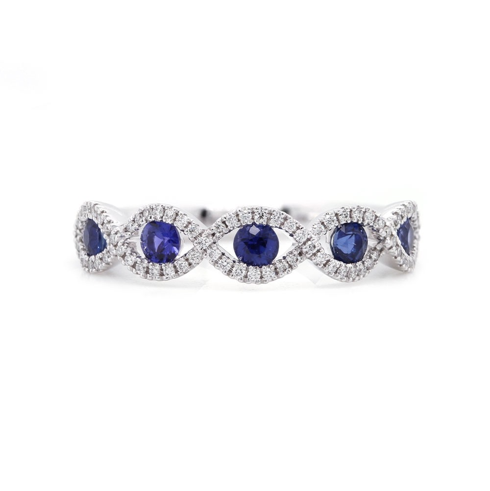 Sapphire and Diamond Infinity Band