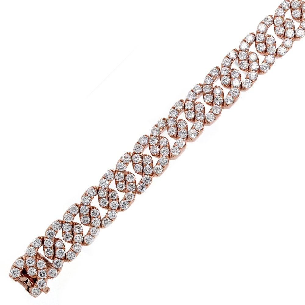 Rose Gold Diamond Link Bracelet