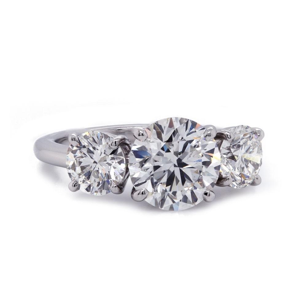 Three Stone Diamond Ring 3.58 t.c.w
