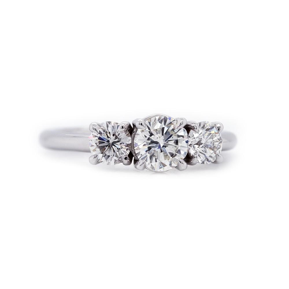Three Stone Diamond Ring 1.10 t.c.w.