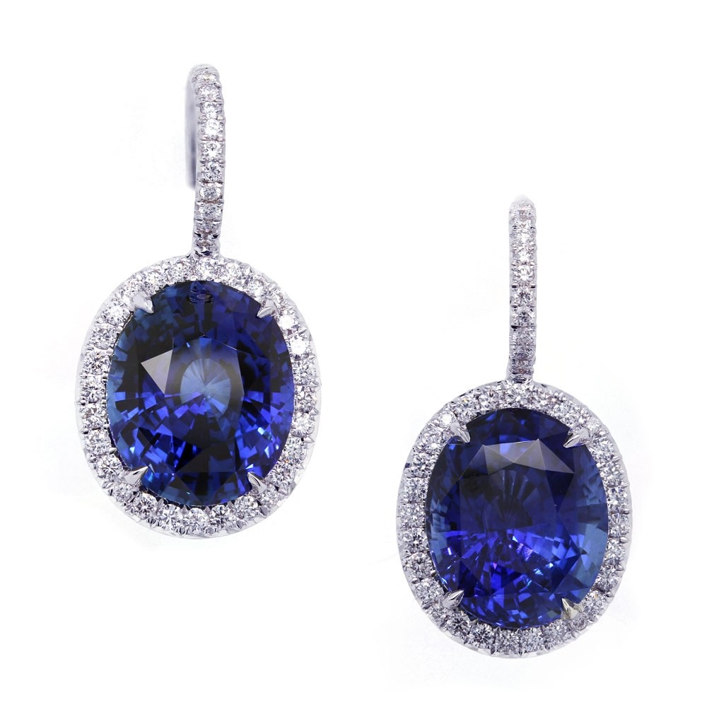 Royal Blue Sapphire Drop Earrings