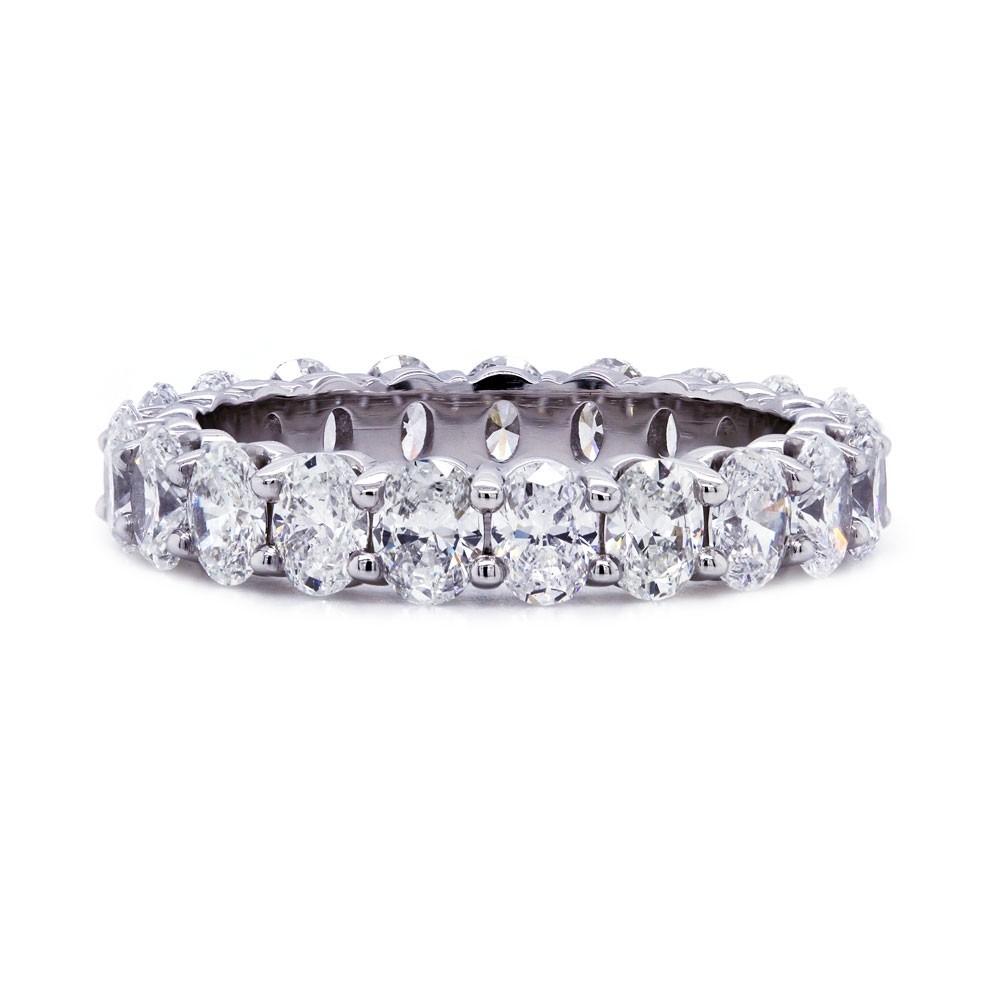 Oval Diamond Eternity Band