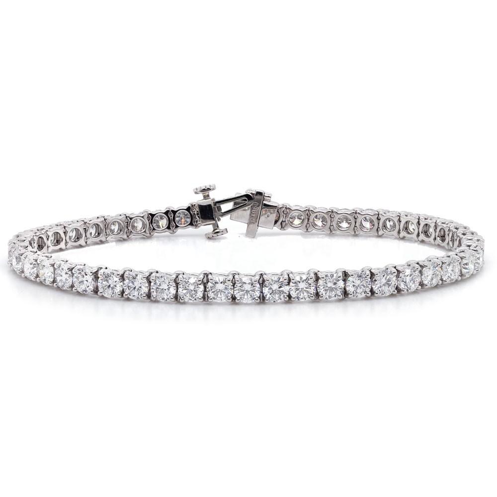 Platinum Diamond Tennis Bracelet 8.11 cttw