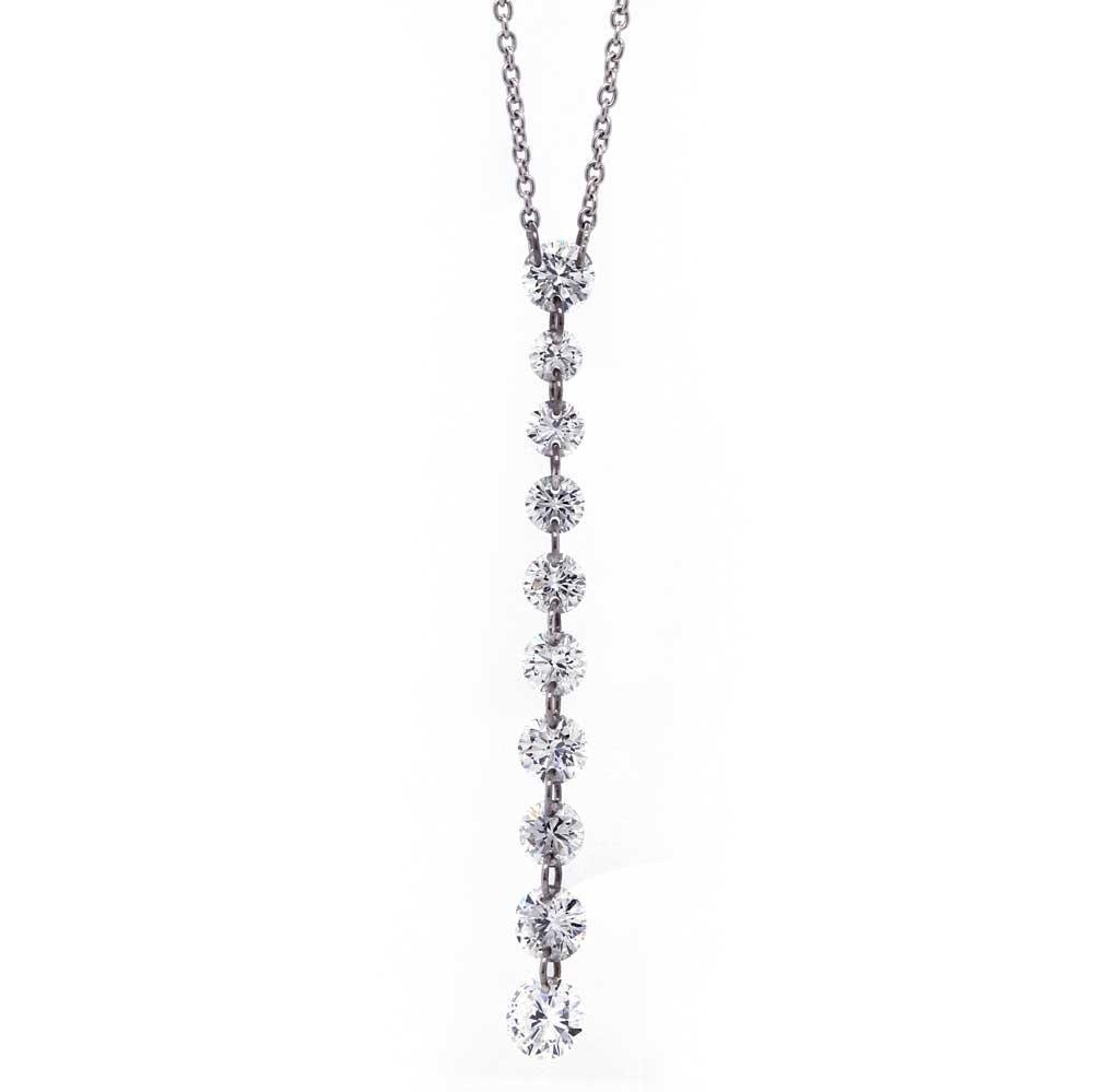 Pierced Diamond Drop Necklace