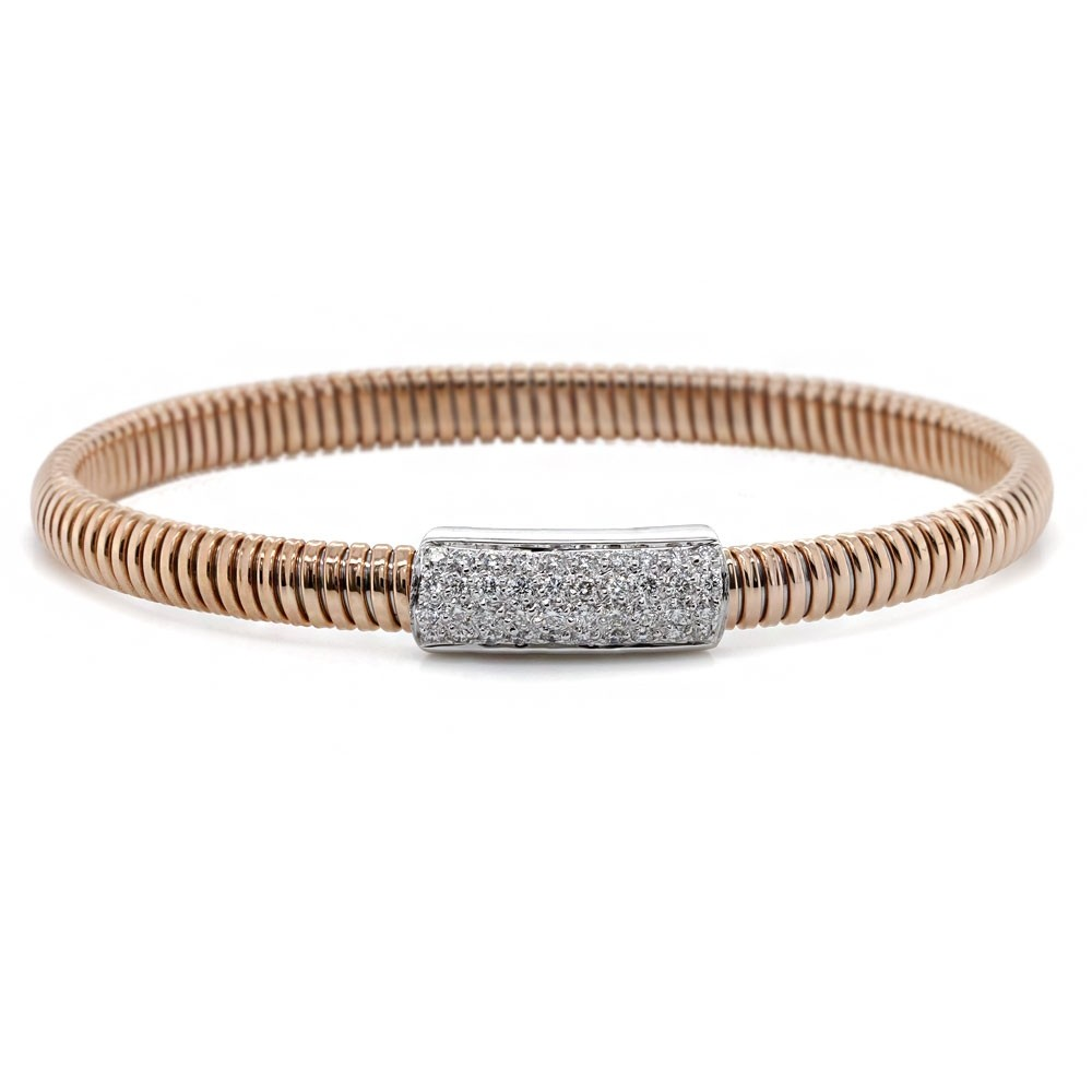 Rose Gold Flexible Diamond Bracelet